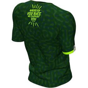 Compressport Training Maglietta A Maniche Corte Camo Neon 2020 Uomo, jungle green